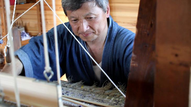 藤織り体験